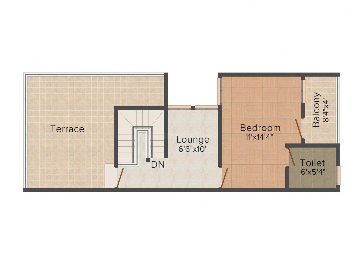 Floor Plan Image of 0 - 2000 Sq.ft 2 BHK Villa for buy in Balaji Enclave
