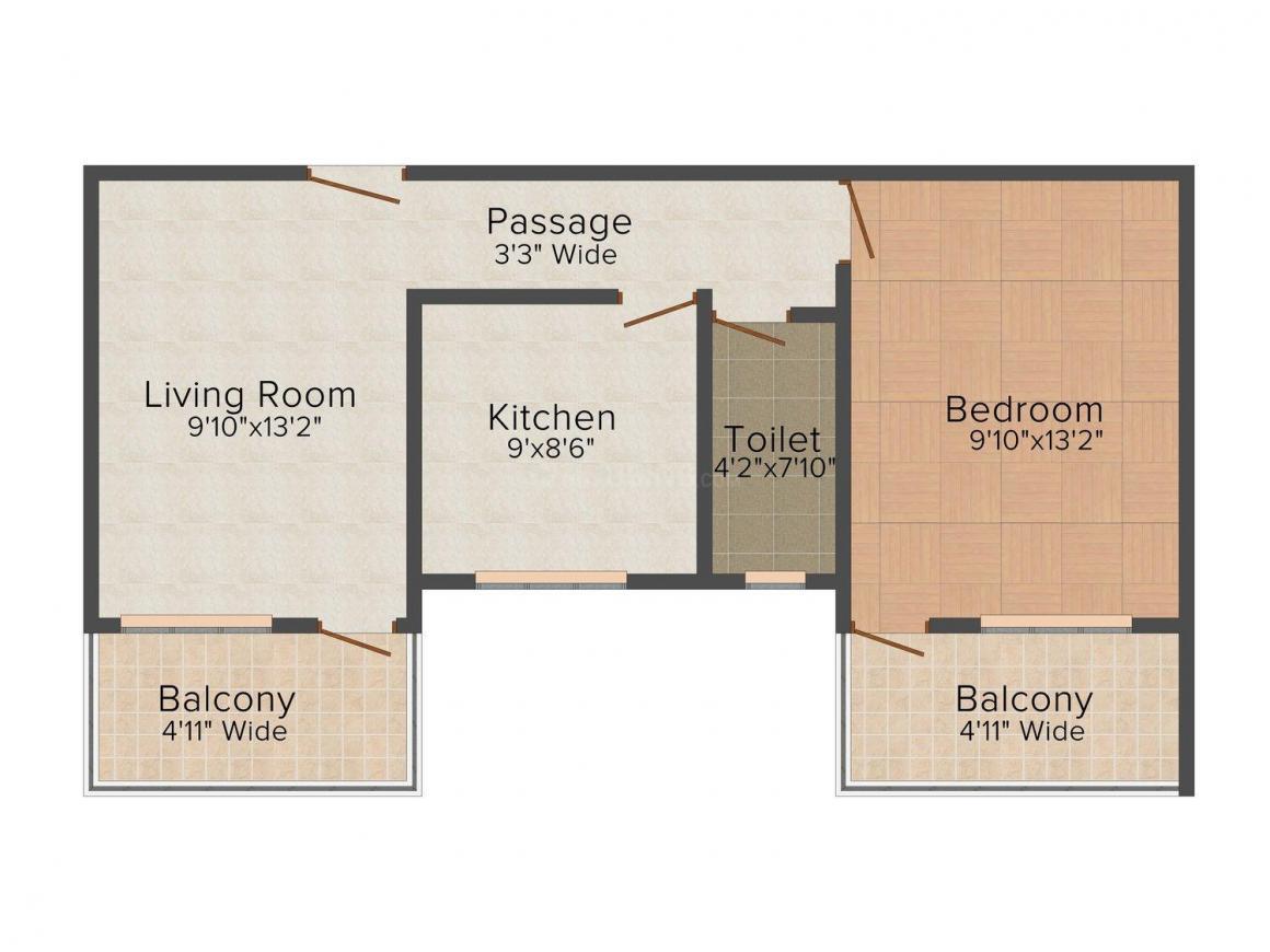 Floor Plan Image of 670 - 1140 Sq.ft 1 BHK Apartment for buy in D Kurtarkar Kurtarkar Nagari