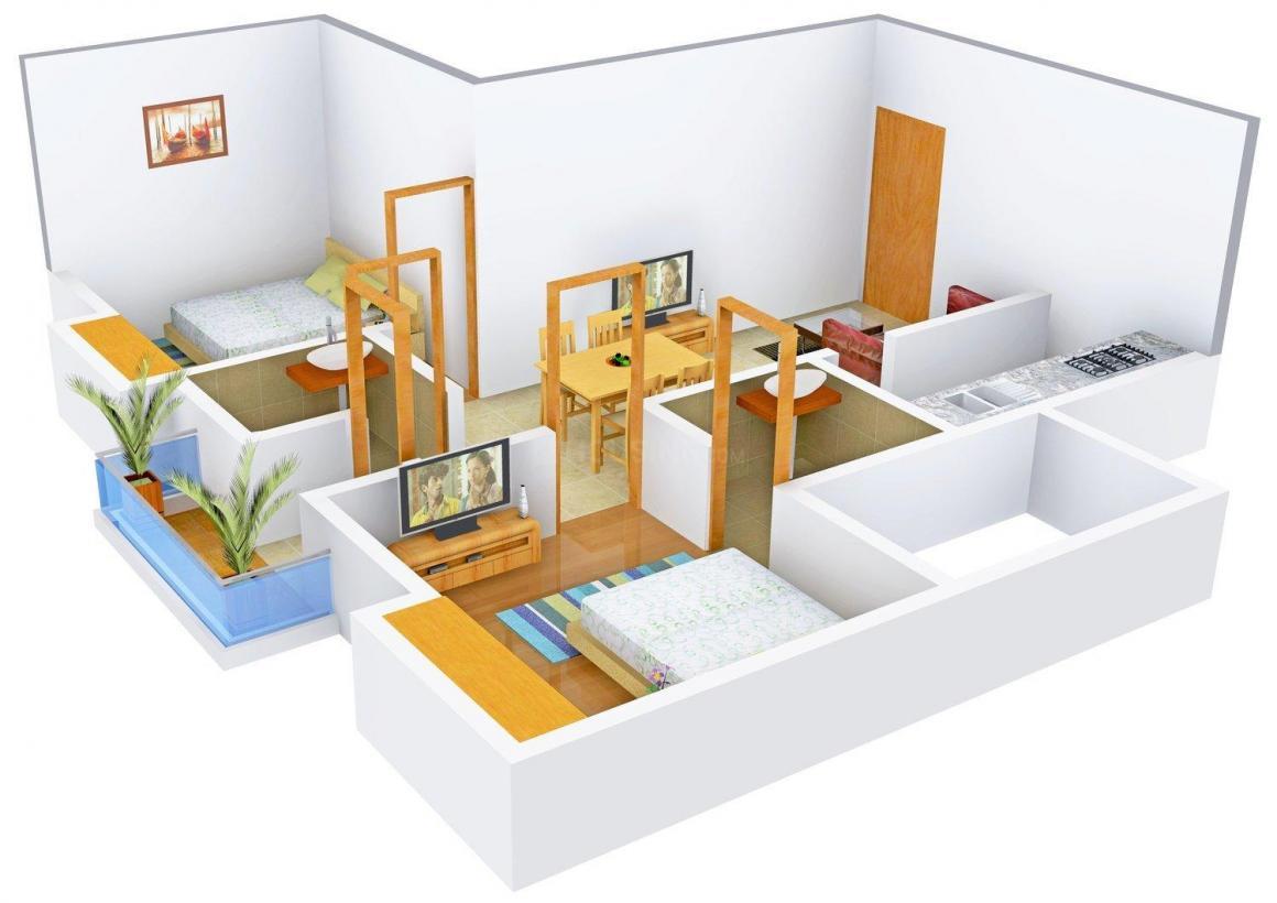 Floor Plan Image of 860.0 - 1192.0 Sq.ft 2 BHK Apartment for buy in Sumathi Elegance