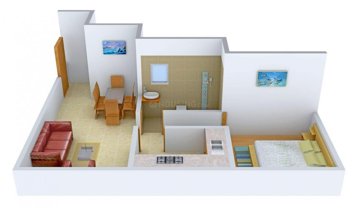 Floor Plan Image of 0 - 534 Sq.ft 1 BHK Apartment for buy in Padmini Complex