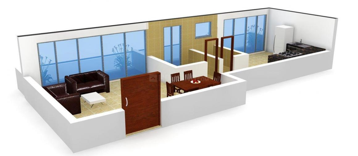 Floor Plan Image of 400.0 - 610.0 Sq.ft 1 RK Apartment for buy in Sai Sahara