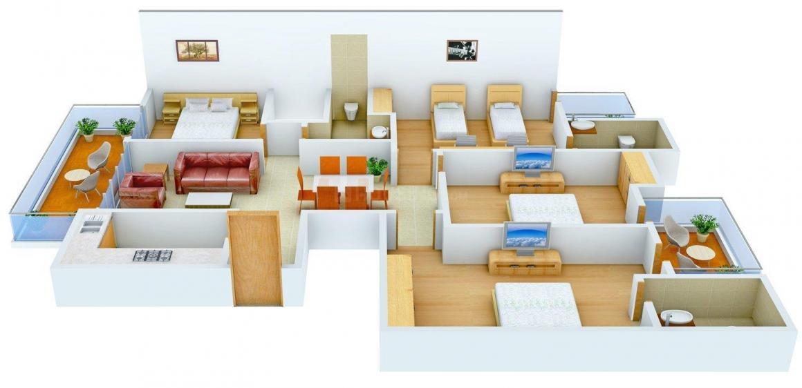 Floor Plan Image of 0 - 2367.0 Sq.ft 4 BHK Independent Floor for buy in S S Floors-7