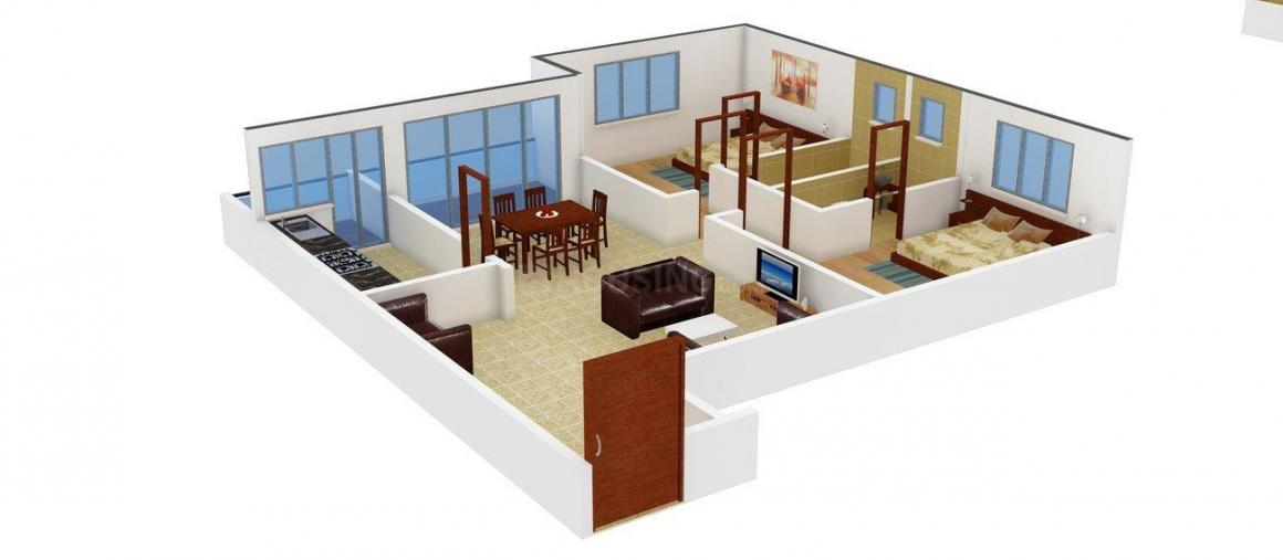 Floor Plan Image of 1120.0 - 1815.0 Sq.ft 2 BHK Apartment for buy in  Bougainville