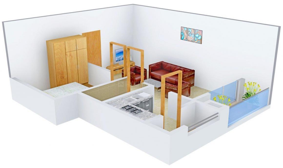 Floor Plan Image of 678.0 - 1346.0 Sq.ft 1 BHK Apartment for buy in Dollar Eden Garden