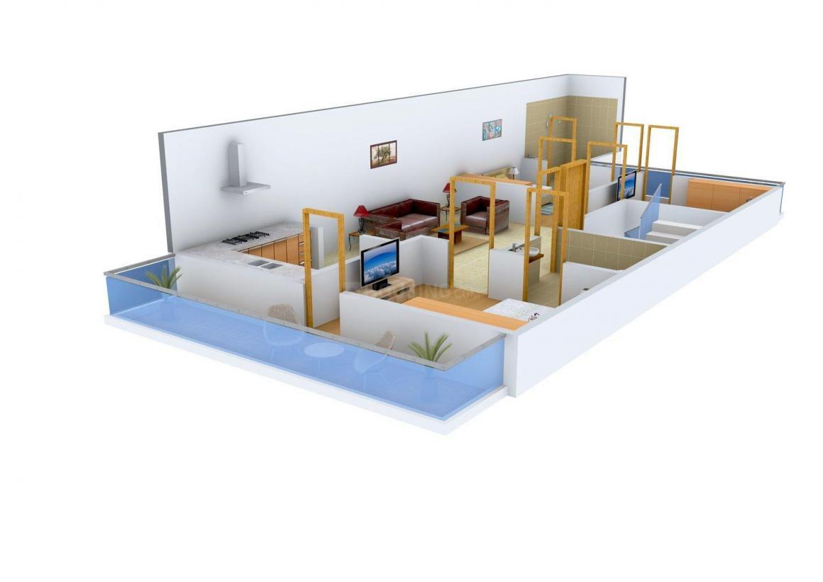 JSV Builder Floor 1 Floor Plan: 3 BHK Unit with Built up area of 1377 sq.ft 1