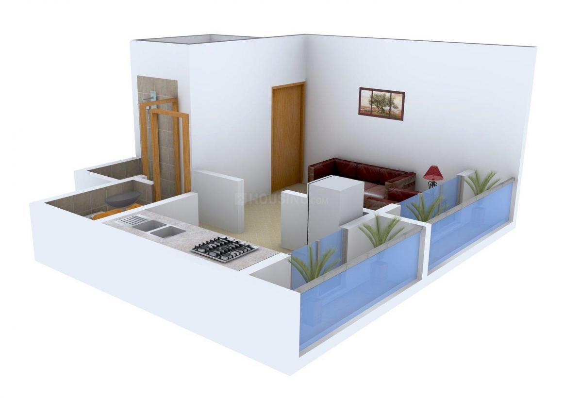 Ramkala Manoshi Majithia Park Floor Plan: 1 BHK Unit with Built up area of 450 sq.ft 1