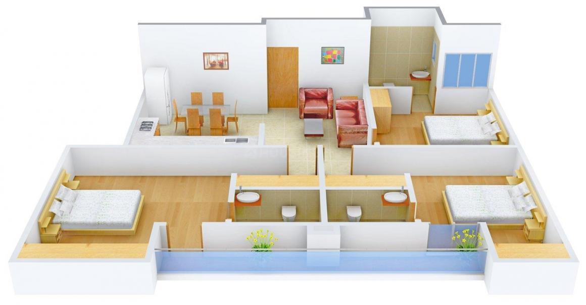 Floor Plan Image of 0 - 1515.0 Sq.ft 3 BHK Apartment for buy in VV Infra Sunshine