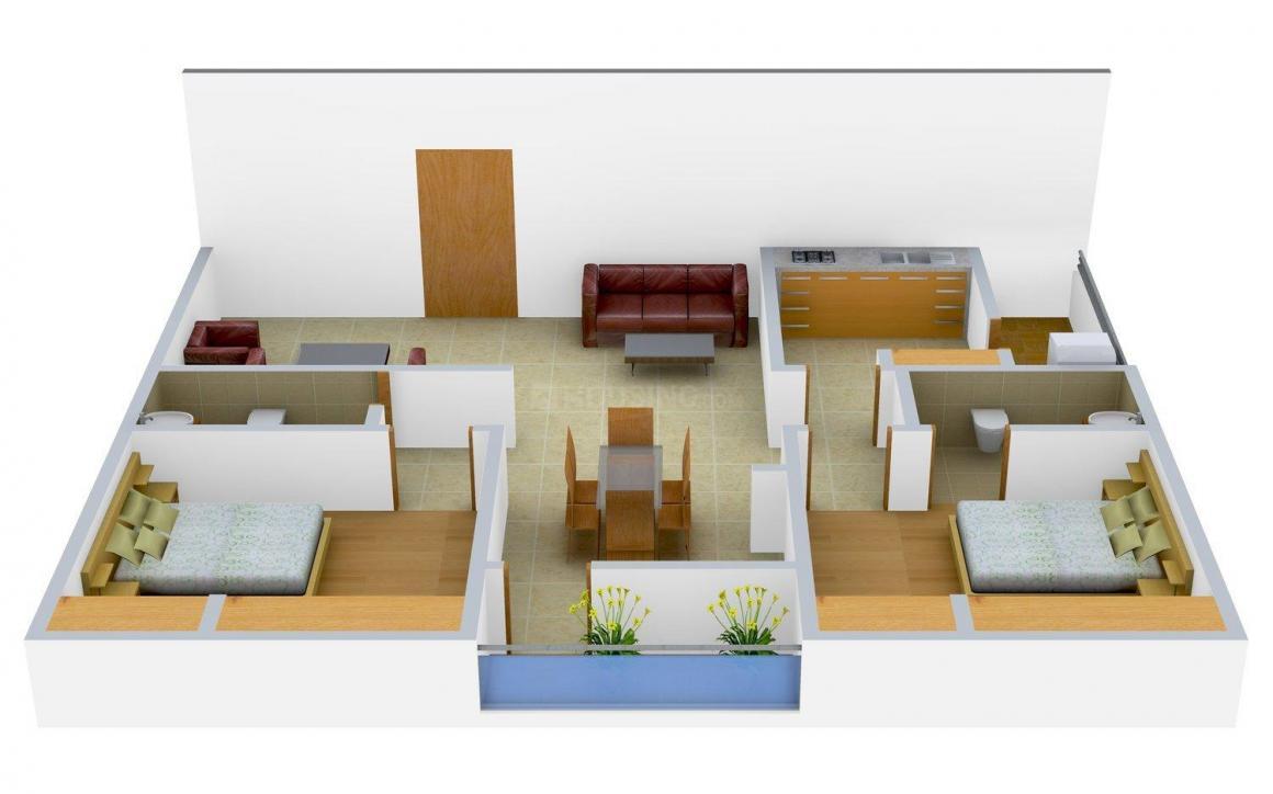 Floor Plan Image of 1185 - 1190 Sq.ft 2 BHK Apartment for buy in Sri Sai Jyothika Block B