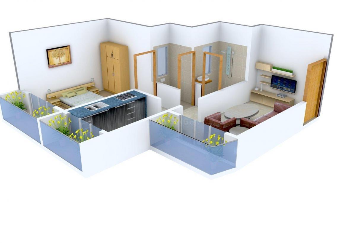 Floor Plan Image of 605 - 1150 Sq.ft 1 BHK Apartment for buy in Sai Kutir