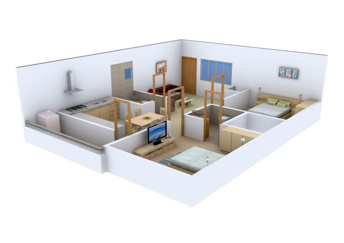 Sai Sumukha Sankalpa Floor Plan: 2 BHK Unit with Built up area of 1045 sq.ft 1