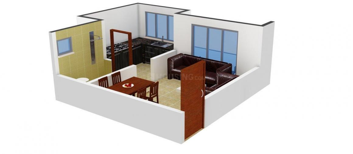 Floor Plan Image of 385.0 - 680.0 Sq.ft 1 RK Apartment for buy in Neela Maitri Complex
