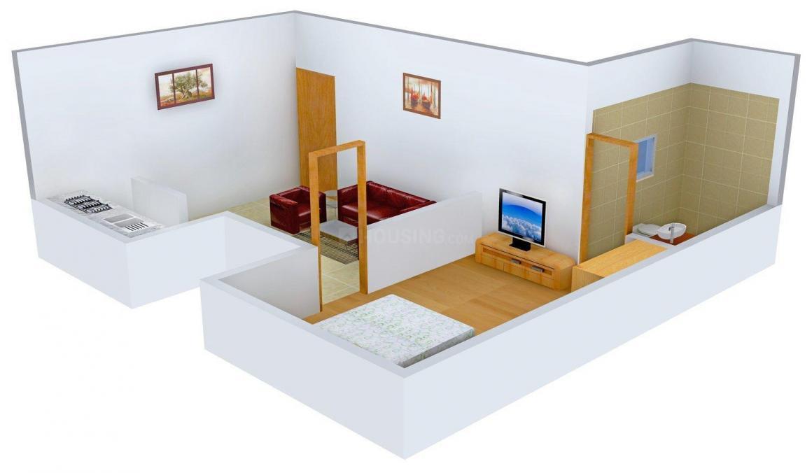 Floor Plan Image of 650 - 950 Sq.ft 1 BHK Independent Floor for buy in Arihant Adi Homes