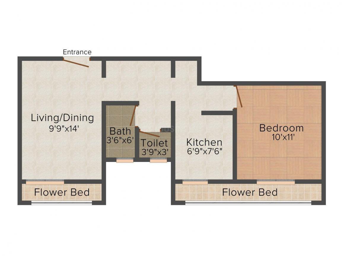 Floor Plan Image of 660 - 835 Sq.ft 1 BHK Apartment for buy in Siddhivinayak Shri Krishna Park