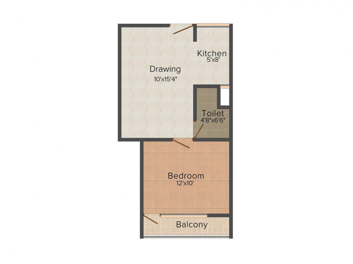 Dream House - 4 Floor Plan: 1 BHK Unit with Built up area of 520 sq.ft 1