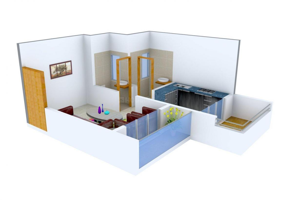 Floor Plan Image of 450.0 - 975.0 Sq.ft 1 R Apartment for buy in Greenconcept Kalash Residency