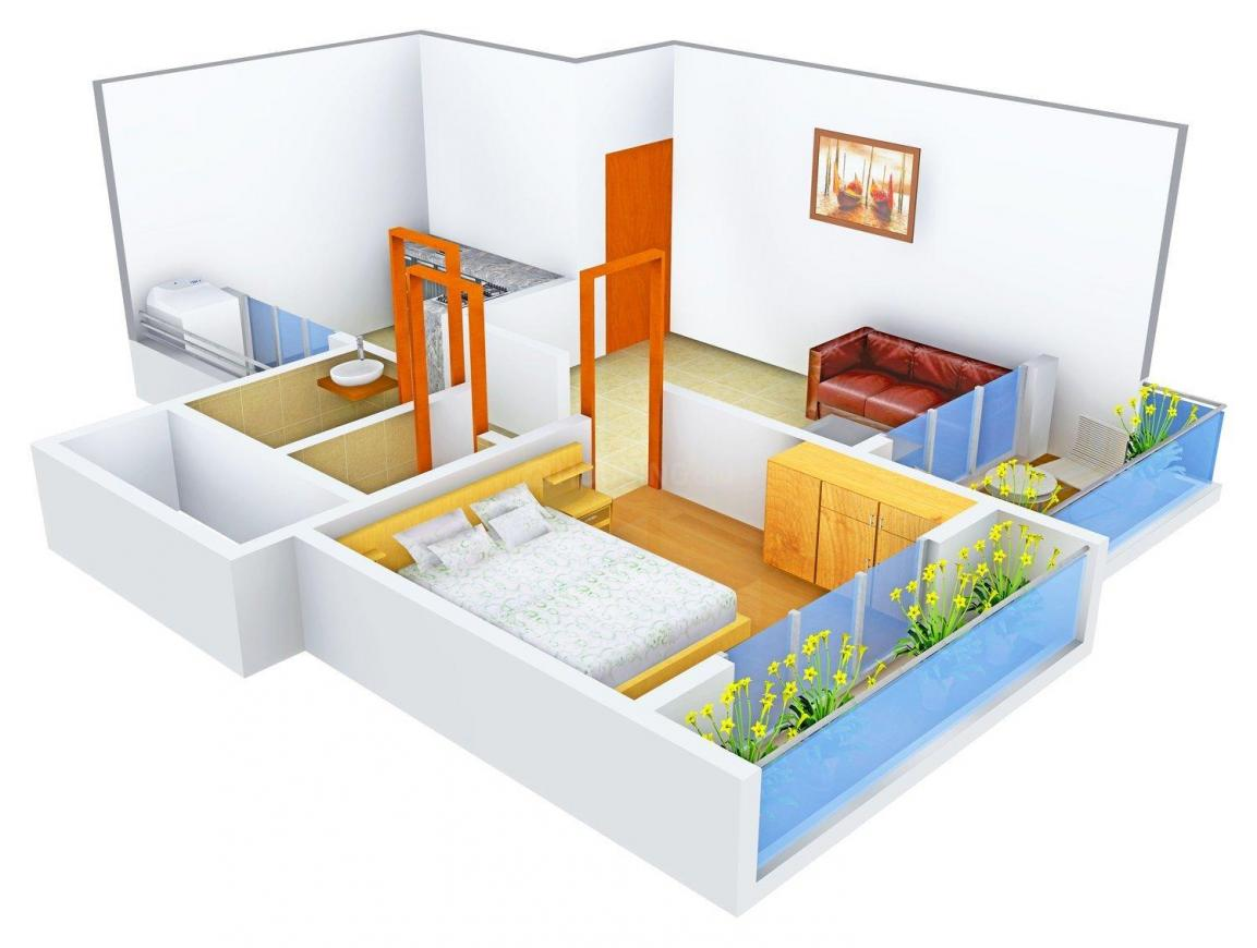 Floor Plan Image of 705.0 - 1220.0 Sq.ft 1 BHK Apartment for buy in Neel Ashima