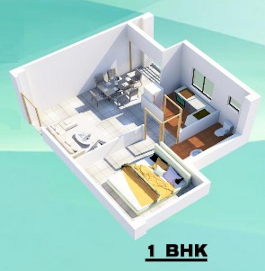 The Nucleus Floor Plan: 1 BHK Unit with Built up area of 522 sq.ft 1