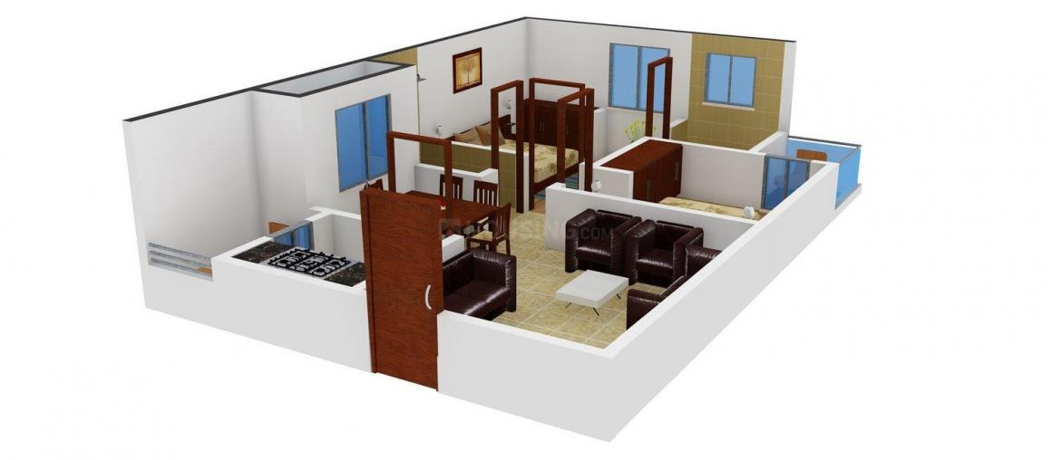 Floor Plan Image of 811.0 - 833.0 Sq.ft 2 BHK Apartment for buy in Kalavathi Residency
