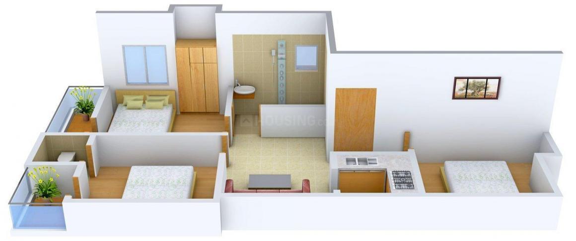Floor Plan Image of 0 - 1105.0 Sq.ft 3 BHK Apartment for buy in TM 565, Brahmapur Road