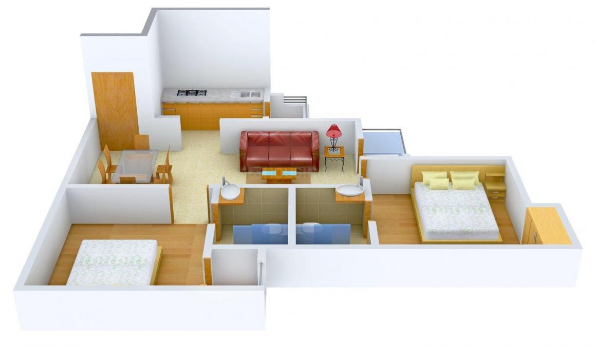 Floor Plan Image of 860 - 3515 Sq.ft 2 BHK Apartment for buy in Logix Blossom Greens