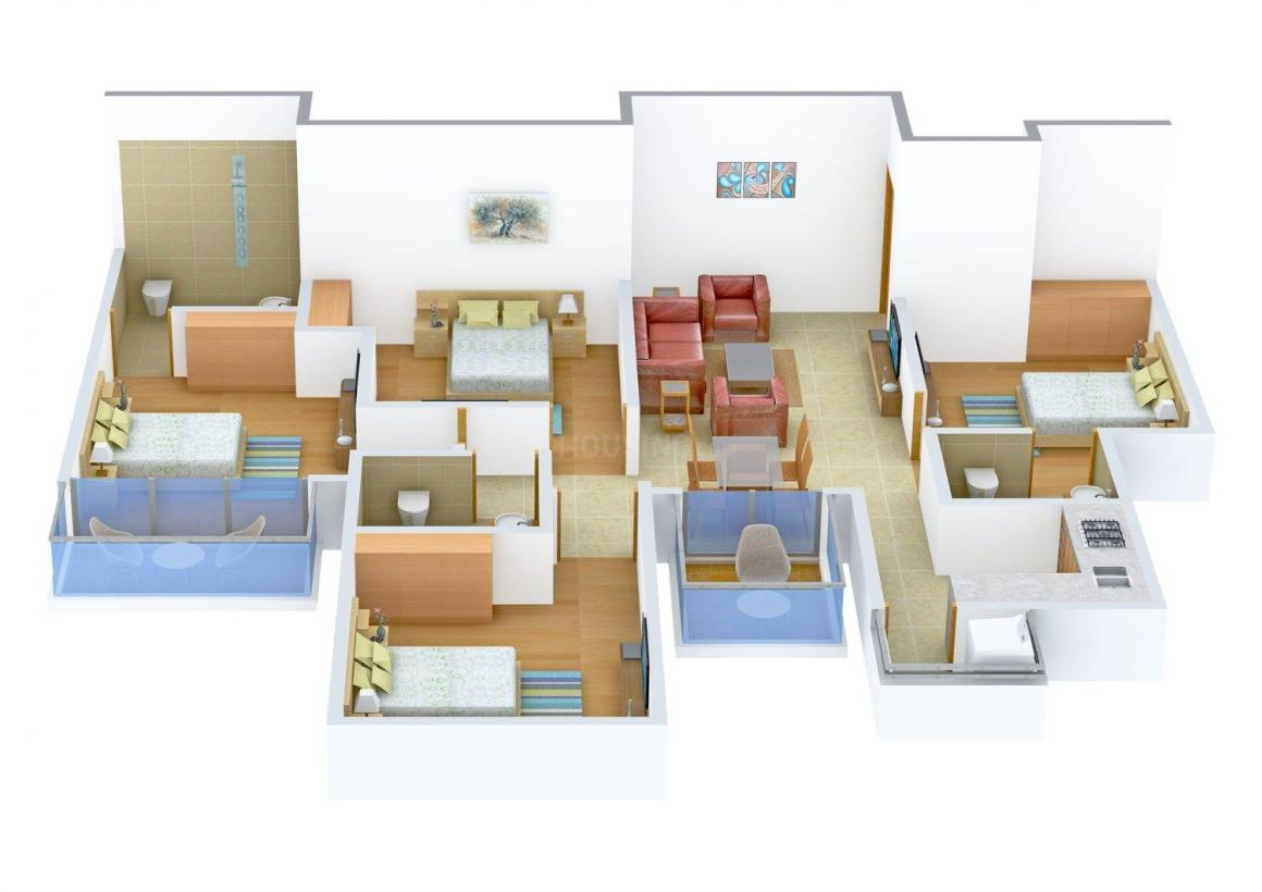 Floor Plan Image of 0 - 1600.0 Sq.ft 4 BHK Independent Floor for buy in V. P. Homes 46