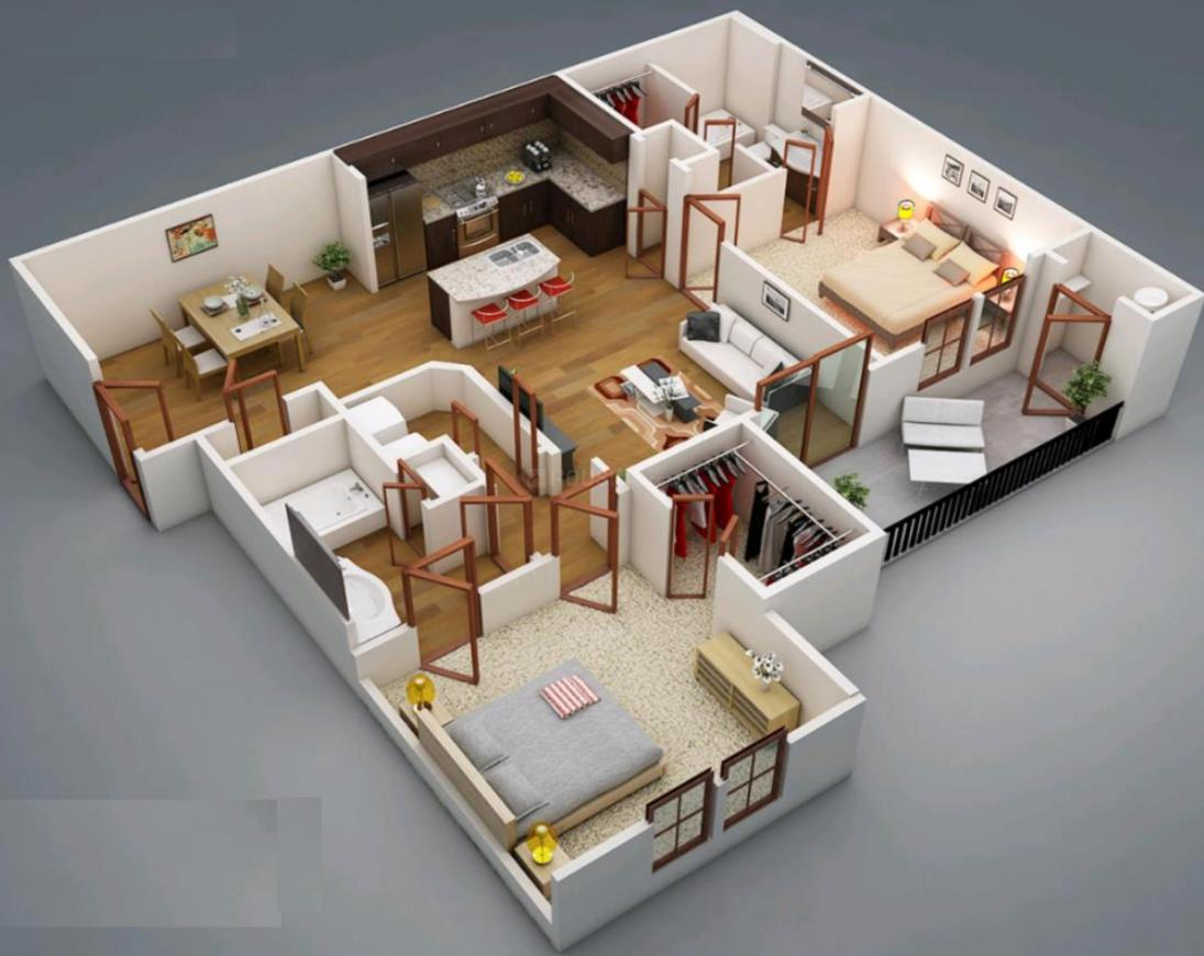 Viva Vijay And Vinay Floor Plan: 2 BHK Unit with Built up area of 785 sq.ft 1