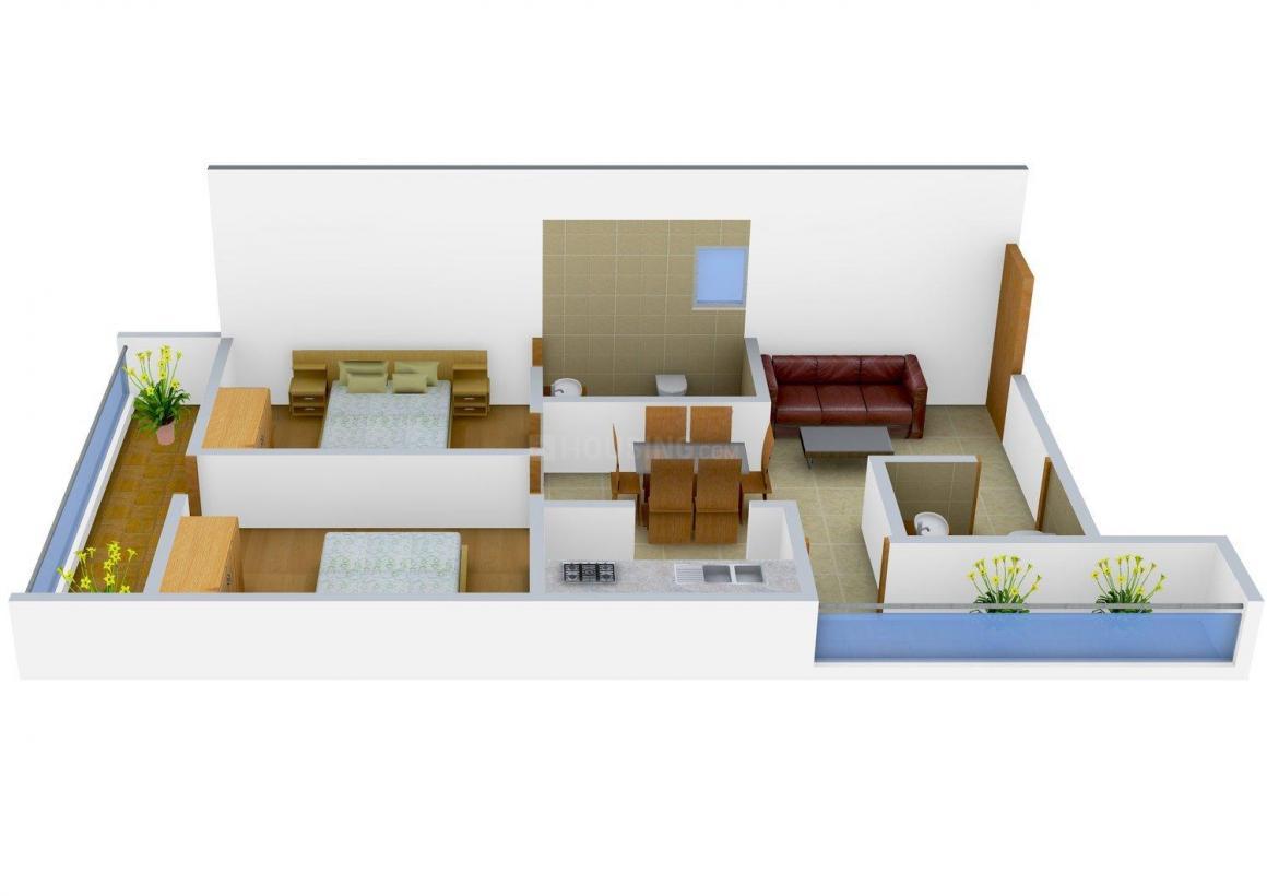 Floor Plan Image of 0 - 500 Sq.ft 2 BHK Independent Floor for buy in Gupta G Builder Site-A386