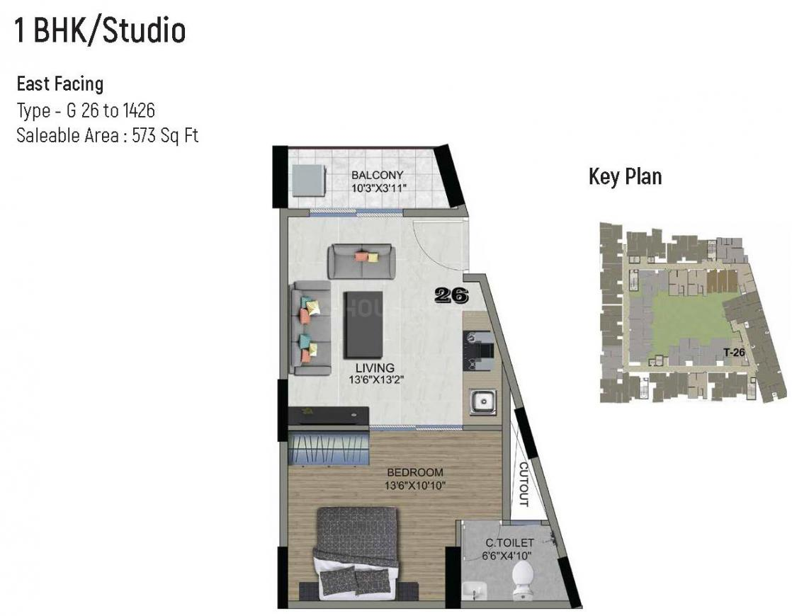 1 BHK Studio Apartment