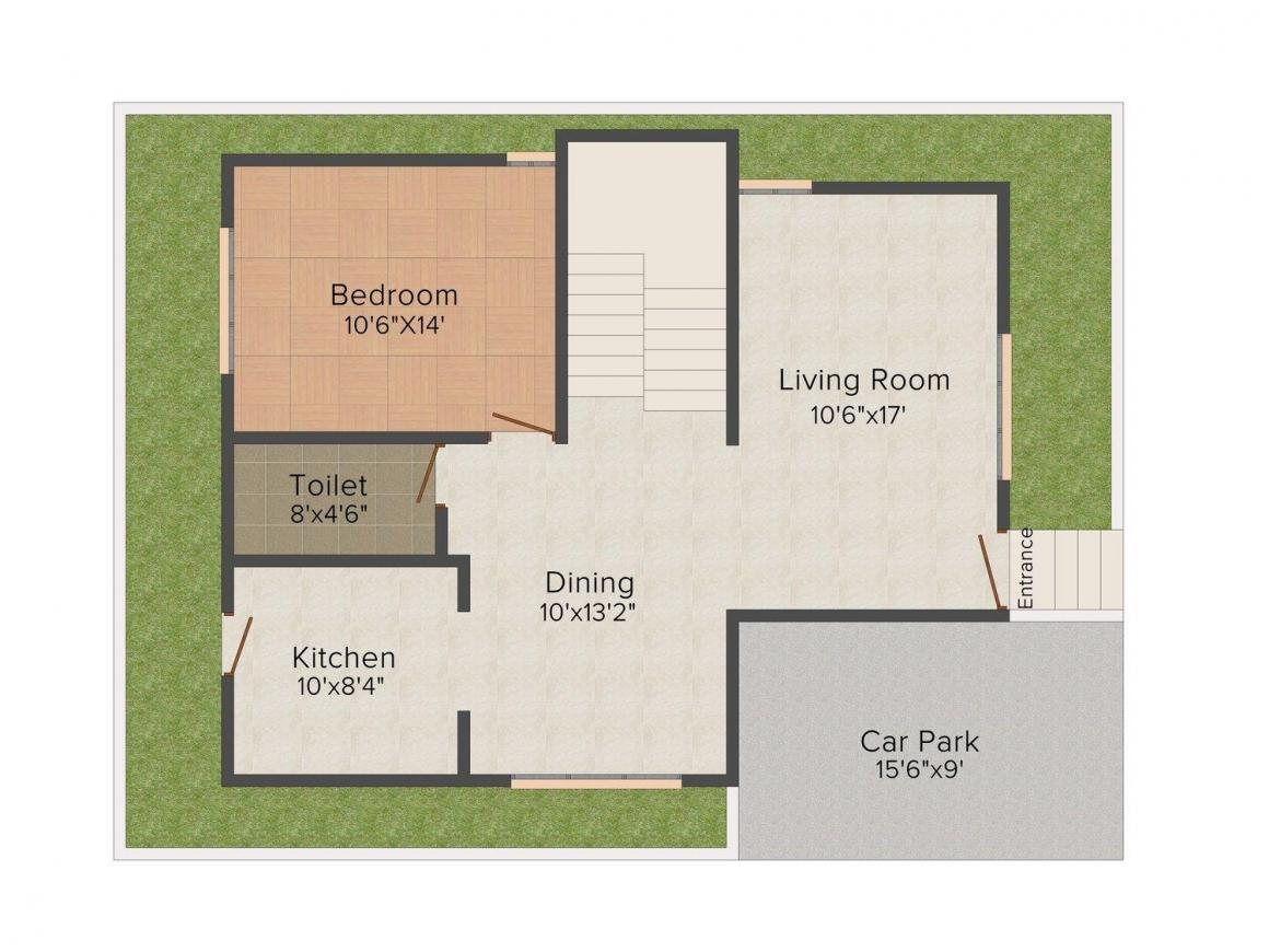 Floor Plan Image of 0 - 1645 Sq.ft 3 BHK Villa for buy in Ashiana Suncity Homes