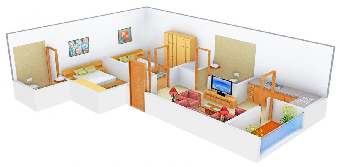 Abhidev Homes Floor Plan: 2 BHK Unit with Built up area of 631 sq.ft 1