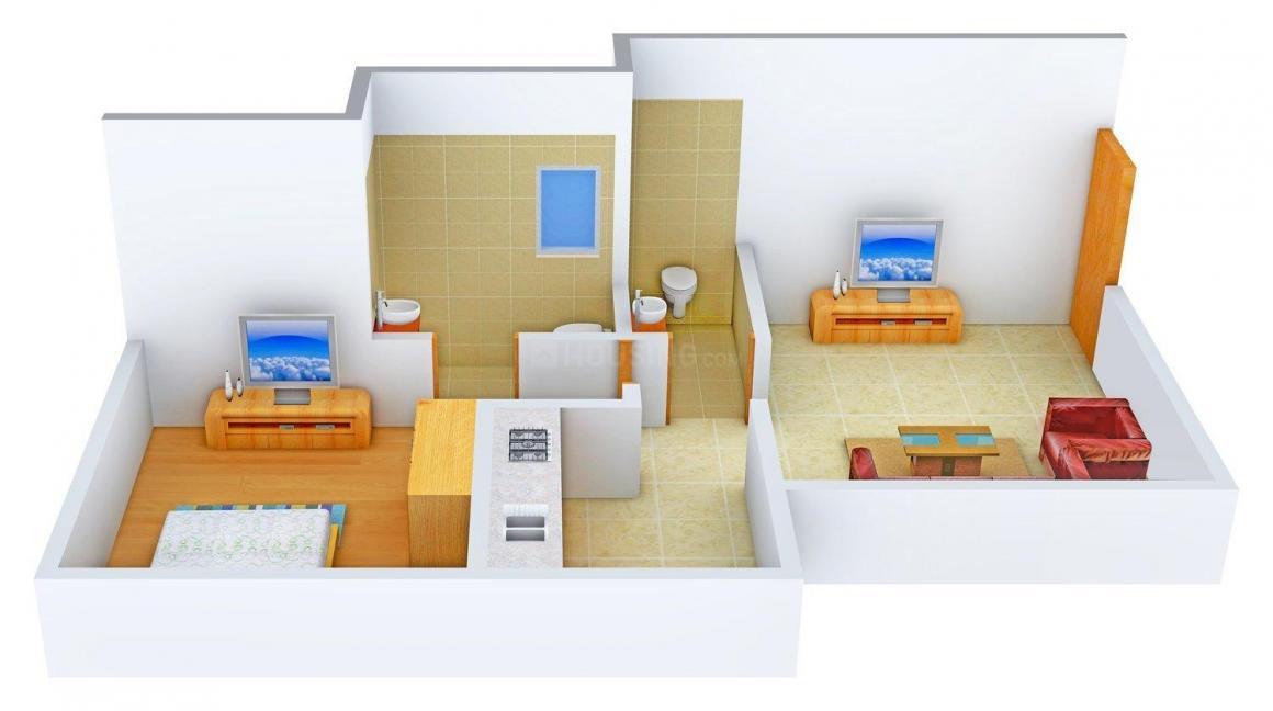 Floor Plan Image of 670.0 - 965.0 Sq.ft 1 BHK Apartment for buy in Shardai Aditya CHSL