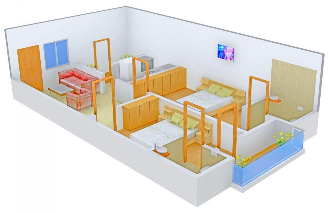 Floor Plan Image of 840.0 - 987.0 Sq.ft 2 BHK Apartment for buy in Bhavani Sai Ram Residency