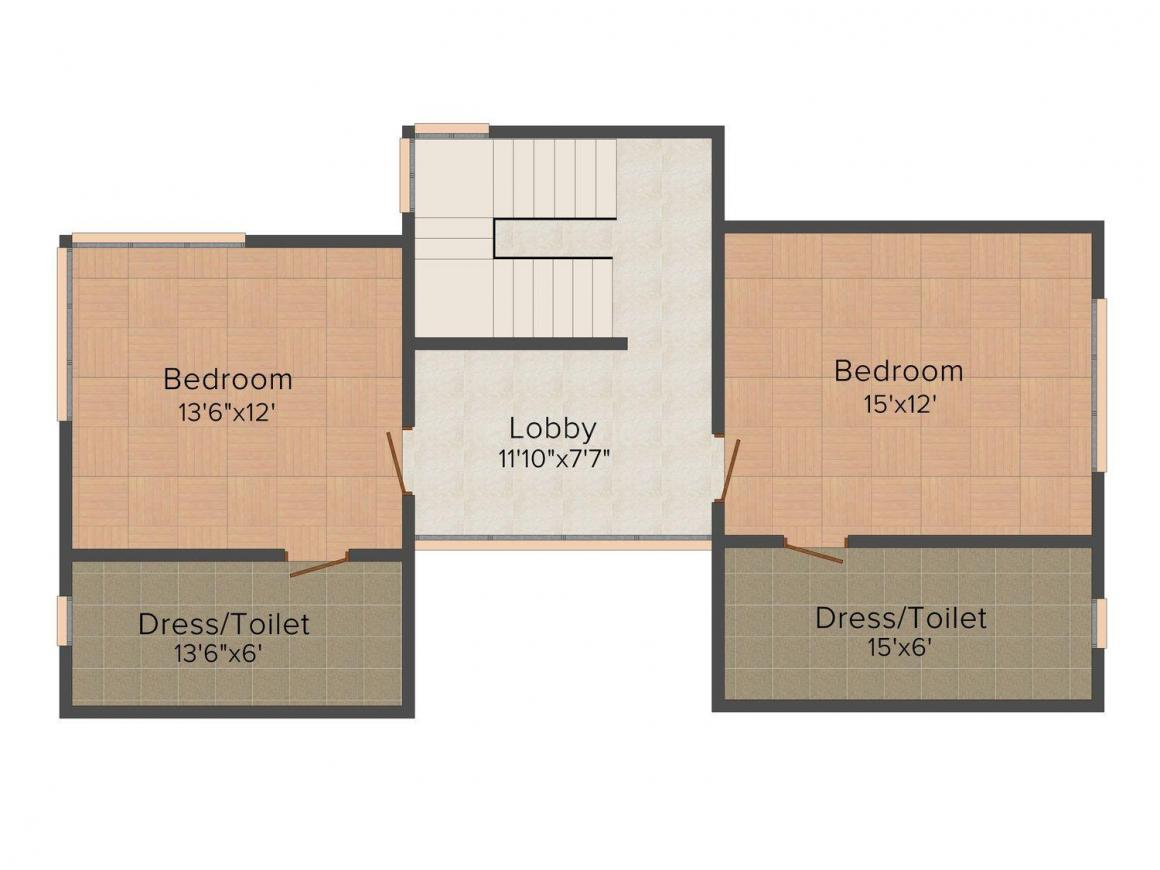 Floor Plan Image of 0 - 3000 Sq.ft 3 BHK Apartment for buy in LA City Gold