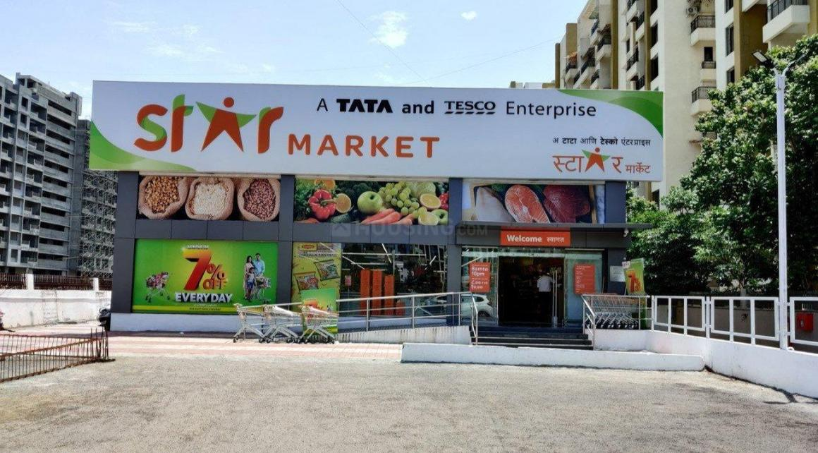 Shopping Malls Image of 909 Sq.ft 2 BHK Apartment for buy in Wakad for 5700000