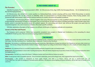 Abhinitha Foundation Vikas Vibhav Brochure 2