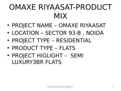 Omaxe Riyaasat Brochure 7