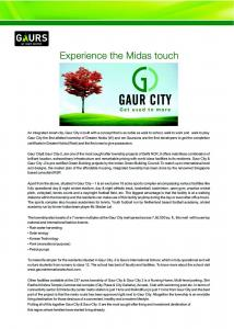 Gaursons Hi Tech 6th Avenue Brochure 2