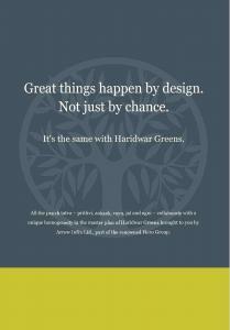 Hero Haridwar Greens Apartments Brochure 3