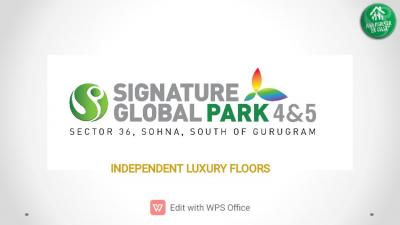 Signature Global Park 4 And 5 Brochure 1