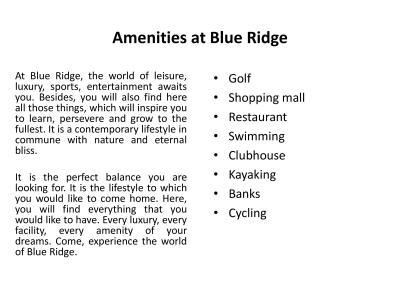 Paranjape Schemes Blue Ridge Project C Land T18 And T19 Brochure 5