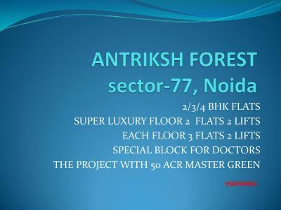 The Antriksh Forest Brochure 1