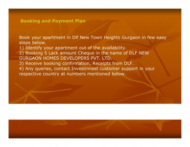 DLF New Town Heights Brochure 9