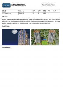 Sunshine Solaris Brochure 1